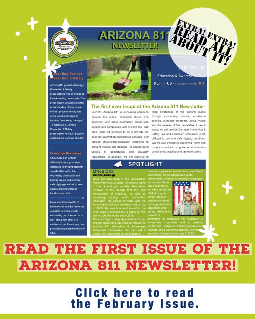 Newsletter annoucement
